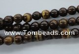 CZJ69 15.5 inches 6mm round iron zebra jasper beads wholesale