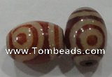 DZI20 3PCS 10*14mm oval loose Tibetan Agate Dzi Beads wholesale