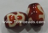 DZI24 2PCS 12*16mm oval loose Tibetan Agate Dzi Beads wholesale