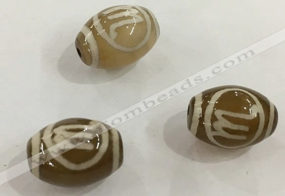 DZI307 10*14mm drum tibetan agate dzi beads wholesale