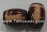 DZI42 2PCS 14*18mm drum loose Tibetan Agate Dzi Beads wholesale
