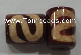 DZI44 2PCS 14*18mm column loose Tibetan Agate Dzi Beads wholesale