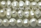 FWP07 14.5 inches 2mm - 3mm potato white freshwater pearl strands
