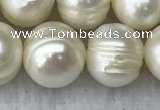 FWP110 15 inches 10mm - 11mm potato white freshwater pearl strands