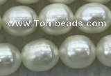 FWP178 15 inches 6mm - 7mm rice white freshwater pearl strands