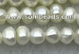 FWP21 14.5 inches 3mm - 3.5mm potato white freshwater pearl strands