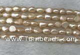 FWP275 15 inches 6mm - 7mm baroque pink freshwater pearl strands