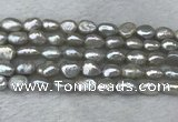 FWP281 15 inches 7mm - 8mm baroque grey freshwater pearl strands