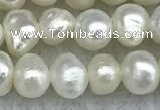 FWP30 15 inches 4.5mm potato white freshwater pearl strands