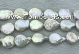 FWP394 15 inches 14mm - 16mm coin freshwater pearl beads