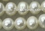 FWP46 14.5 inches 5mm - 6mm potato white freshwater pearl strands