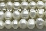 FWP51 14.5 inches 3mm - 4mm potato white freshwater pearl strands