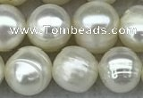 FWP66 15 inches 7mm - 8mm potato white freshwater pearl strands