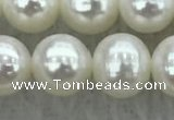 FWP77 15 inches 7mm - 8mm potato white freshwater pearl strands