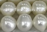 FWP79 15 inches 7mm - 8mm potato white freshwater pearl strands