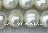 FWP84 15 inches 8mm - 9mm potato white freshwater pearl strands