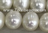 FWP90 15 inches 8mm - 9mm potato white freshwater pearl strands