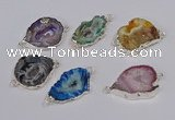 NGC1091 18*25mm - 25*35mm freeform druzy agate gemstone connectors