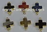 NGC1372 18*18mm - 20*20mm cross agate connectors wholesale