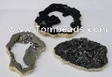 NGC488 45*50mm - 50*60mm freefrom plated druzy agate connectors