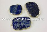 NGC628 30*40mm - 35*45mm freeform lapis lazuli connectors wholesale