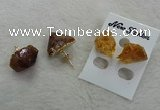 NGE135 12*14mm - 13*18mm nuggets citrine gemstone earrings