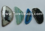 NGP1198 30*50mm - 40*70mm freeform agate gemstone pendants wholesale
