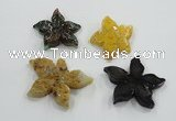 NGP1220 40*45mm - 65*70mm starfish agate gemstone pendants wholesale