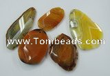 NGP1256 25*40mm - 50*65mm freeform agate gemstone pendants wholesale