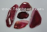 NGP1257 30*40mm - 50*70mm freeform agate gemstone pendants wholesale