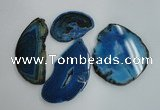 NGP1265 40*55mm - 60*80mm freeform agate gemstone pendants wholesale
