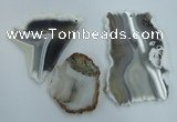 NGP1274 45*55mm - 70*90mm freeform agate gemstone pendants wholesale