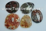 NGP1278 45*55mm - 60*70mm freeform agate gemstone pendants wholesale