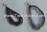 NGP1427 30*45mm - 45*55mm freeform plated druzy agate pendants