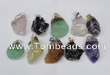 NGP1506 20*30mm - 25*50mm nuggets mixed quartz pendants