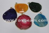 NGP1535 45*55mm - 50*60mm freeform agate gemstone pendants