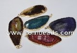 NGP1543 30*65mm - 40*65mm freeform agate gemstone pendants