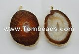 NGP1545 50*65mm - 55*75mm freeform druzy agate gemstone pendants