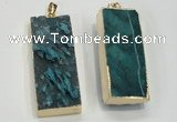 NGP1558 20*50mm - 22*50mm rectangle druzy agate pendants