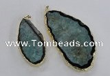 NGP1756 35*60mm - 50*80mm freeform druzy agate gemstone pendants