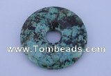 NGP220 7*40mm fashion african turquoise gemstone donut pendant