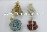 NGP2281 35*45mm - 45*50mm freeform druzy agate gemstone pendants