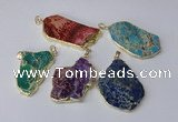 NGP2289 30*40mm - 40*50mm freeform sea sediment jasper pendants