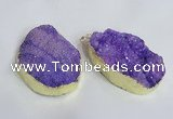 NGP2471 45*55mm - 50*65mm freeform druzy agate pendants wholesale