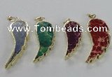 NGP2530 18*40mm - 22*55mm wing-shaped sea sediment jasper pendants