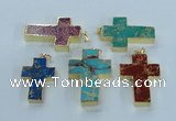 NGP2538 30*40mm - 40*50mm cross sea sediment jasper pendants