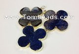 NGP2544 53*53mm - 56*56mm flower agate gemstone pendants