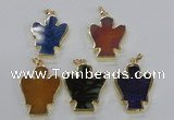 NGP2584 30*40mm angel agate gemstone pendants wholesale