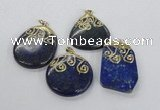 NGP2626 25*35mm - 40*50mm freeform lapis lazuli gemstone pendants