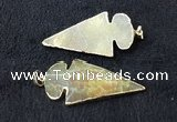 NGP2655 24*53mm - 26*55mm arrowhead agate pendants wholesale
